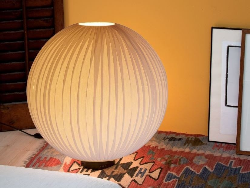 LED fluorescent fabric table lamp SATURN S by luxcambra