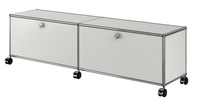 Metal TV cabinet USM HALLER ENTERTAINMENT UNIT | Metal TV cabinet by USM