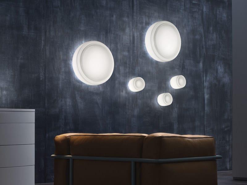 Blown glass wall light BOT PP by Vetreria Vistosi