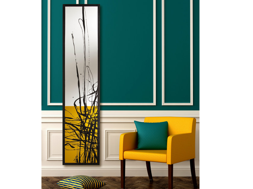 Wall-mounted Olycale® panel radiator GREENOR DUNE by Cinier