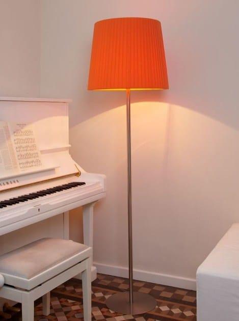 Nickel floor lamp TOSCANA P by luxcambra