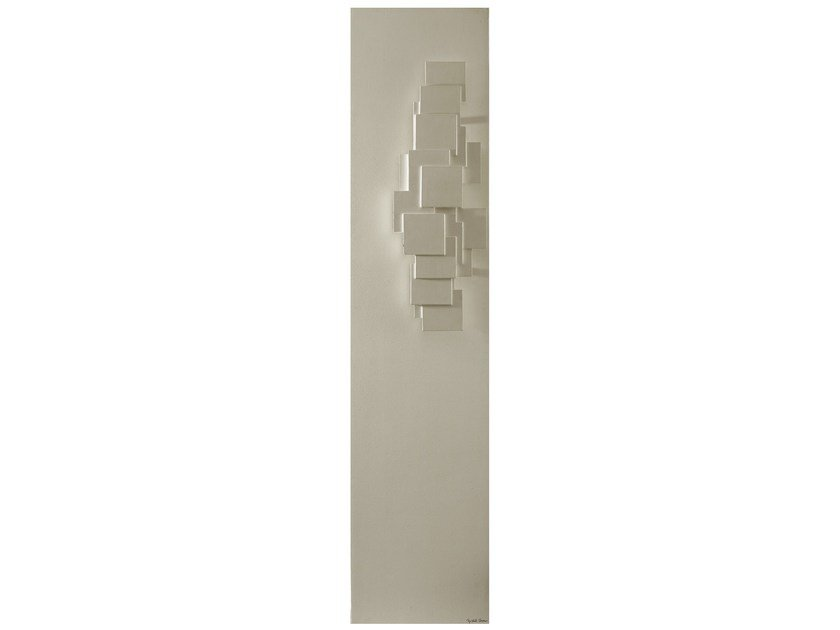 Wall-mounted Olycale® panel radiator SCULPTURAL by Cinier