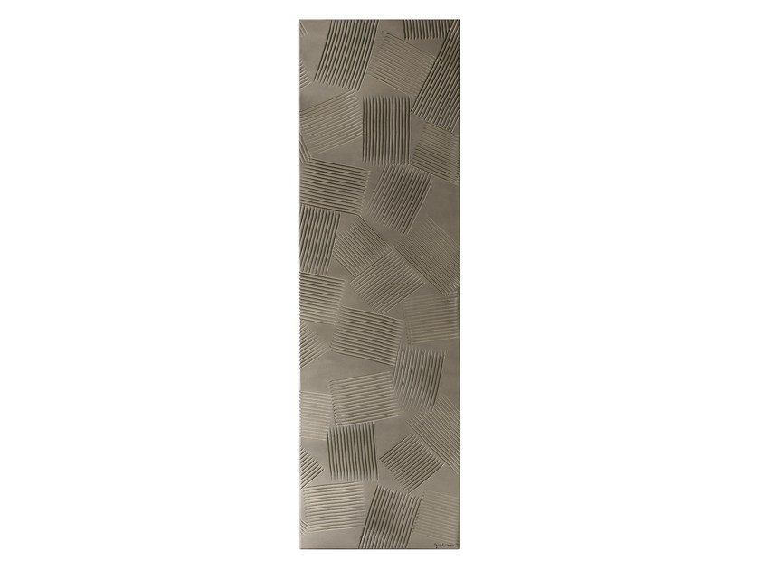 Wall-mounted Olycale® panel radiator JEUX D'OMBRES by Cinier