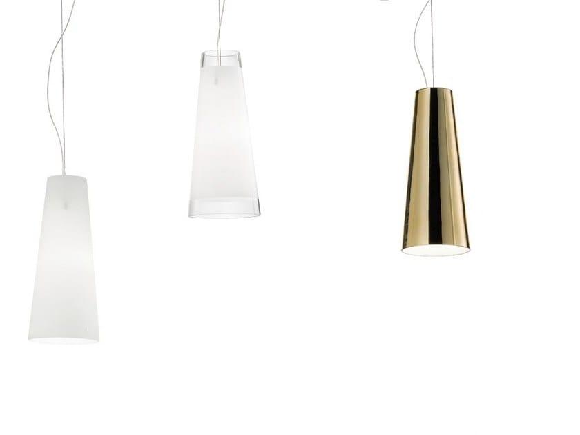 Glass pendant lamp CHEOPE SP by Vetreria Vistosi