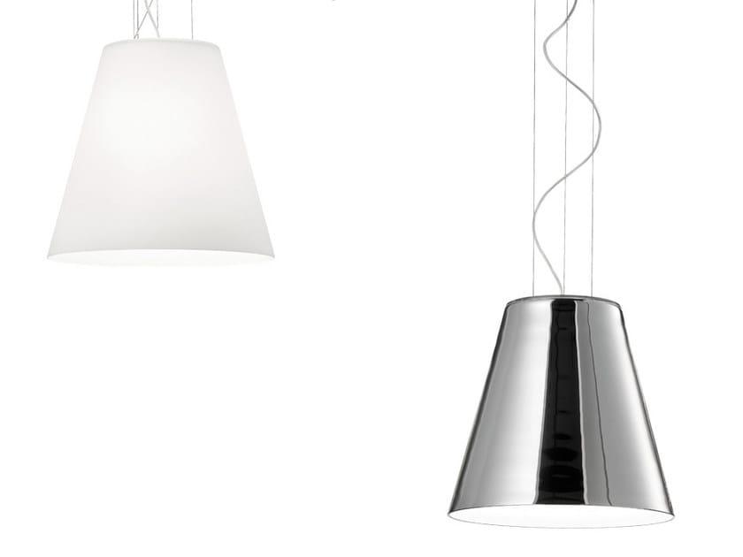 Glass pendant lamp CHEOPE 09 SP by Vetreria Vistosi