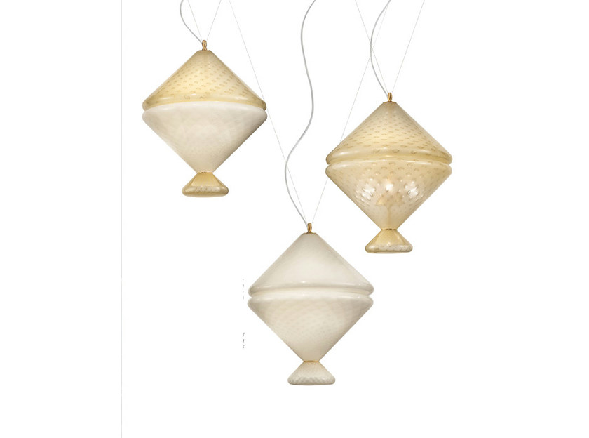 Glass pendant lamp CIONDO SP by Vetreria Vistosi