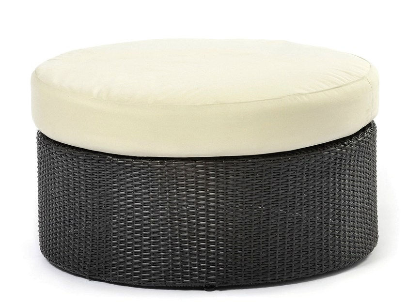 Ottoman with synthetic fiber weaving ARENA | Pouf by Varaschin