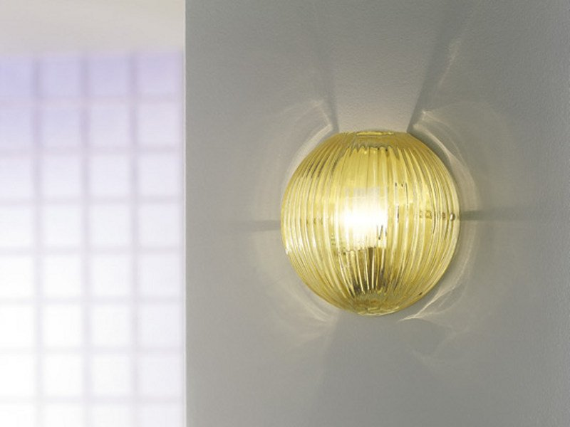 Blown glass wall light COMARI AP by Vetreria Vistosi