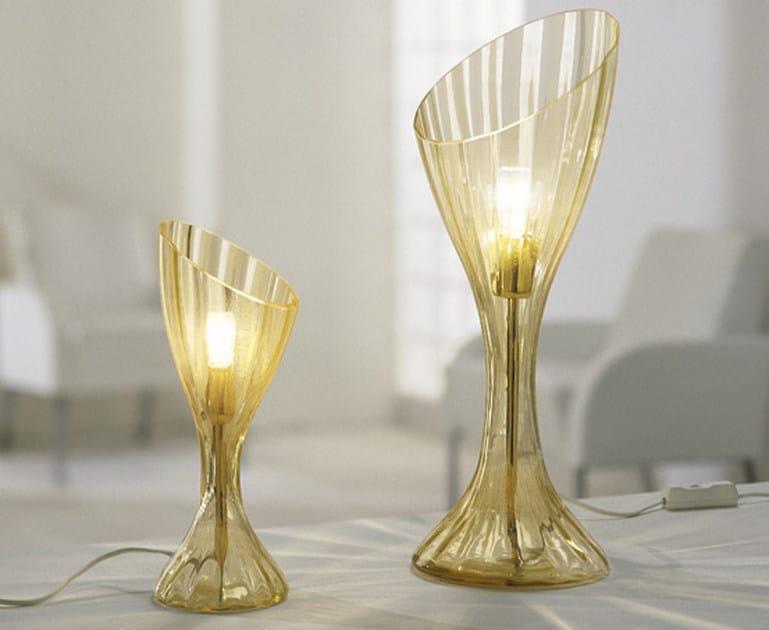 Blown glass table lamp COMARI LT by Vetreria Vistosi
