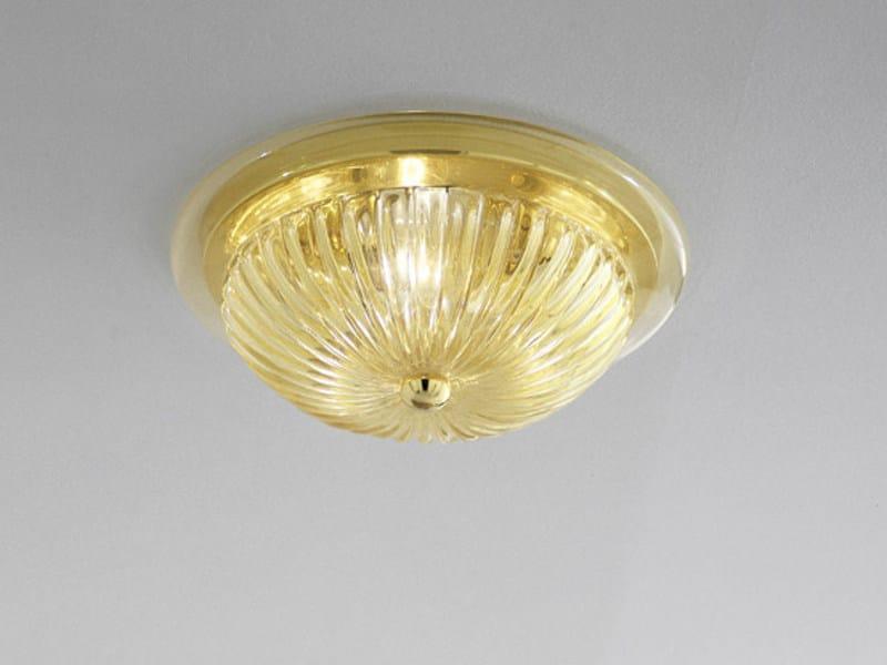 Blown glass ceiling light COMARI PL by Vetreria Vistosi