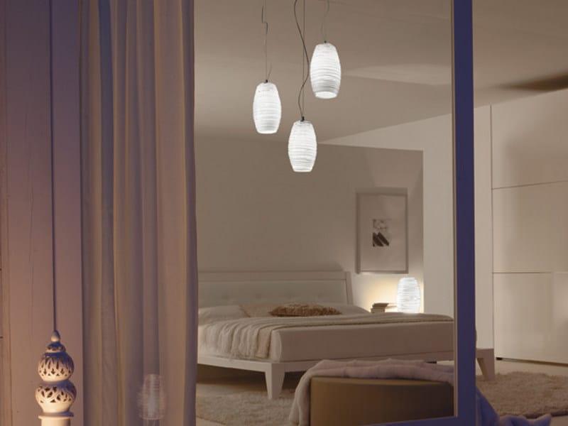 Glass chandelier DAMASCO SP 3 P by Vetreria Vistosi