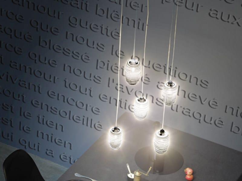 Glass chandelier DAMASCO SP 5 P by Vetreria Vistosi