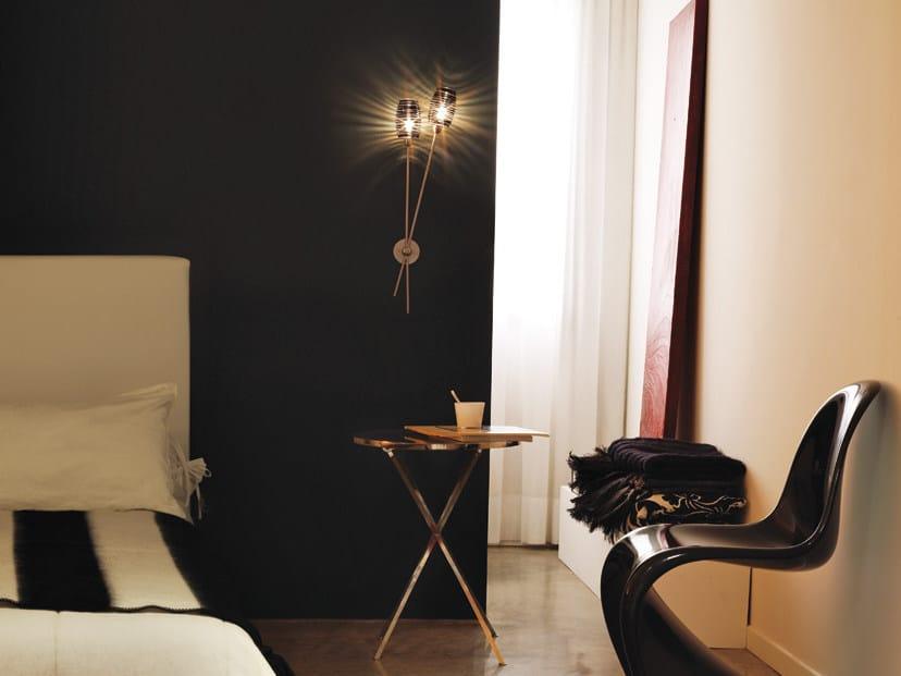 Glass wall lamp damasco ap 2b p by vetreria vistosi