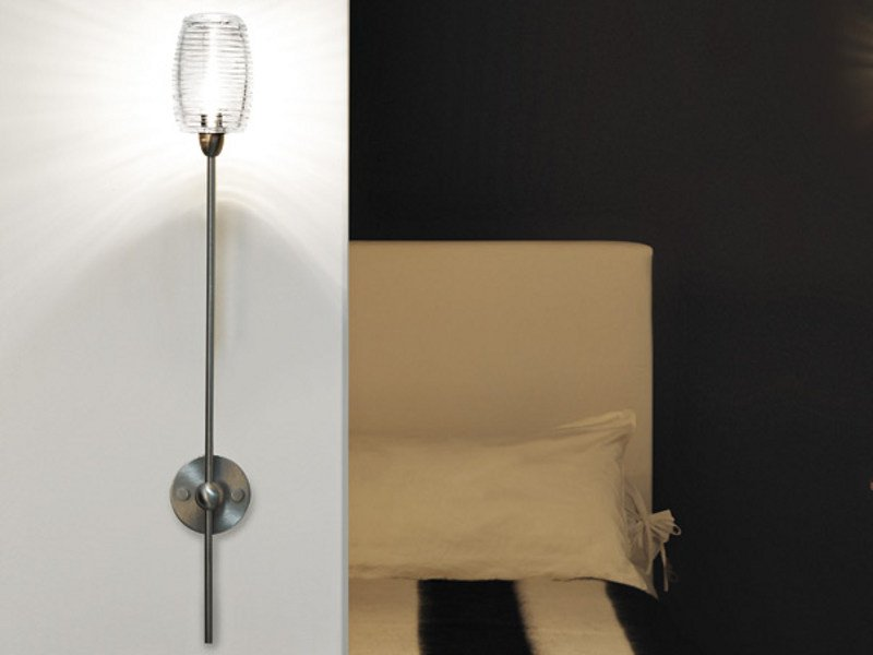 Glass wall lamp DAMASCO AP 1B P by Vetreria Vistosi