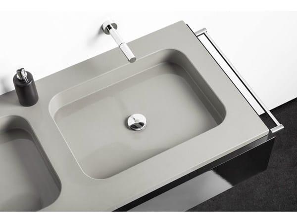 Double rectangular Silestone® washbasin EXCLUSIVE by Cosentino