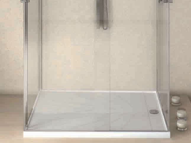 Rectangular Silestone® shower tray FRECCIA by Cosentino
