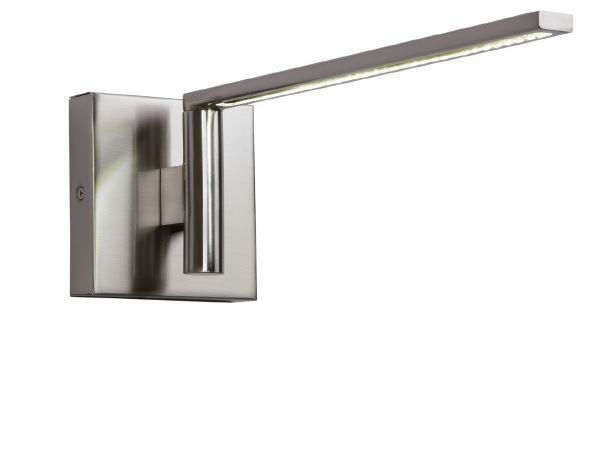 LED adjustable nickel wall lamp MATRIX LED by luxcambra