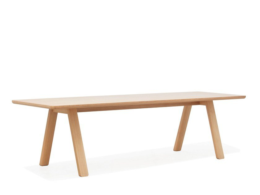 Rectangular solid wood table STELVIO by TON