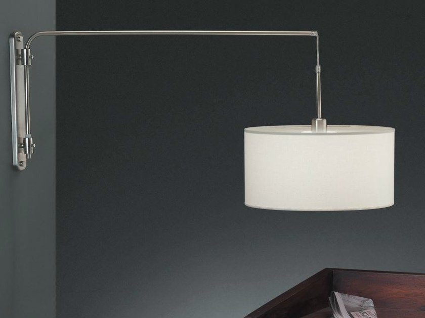 Adjustable fabric wall lamp ARCO A by luxcambra