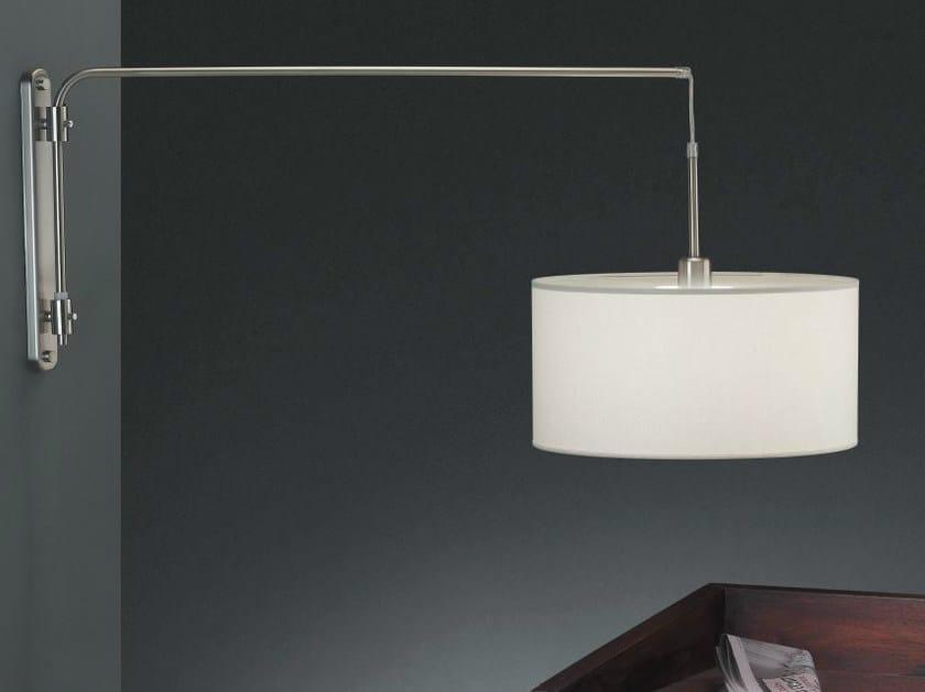 Lampada da parete orientabile in tessuto arco a by luxcambra