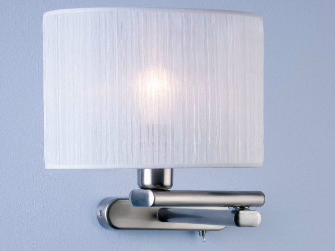 Fabric wall lamp with swing arm HOTEL A by luxcambra