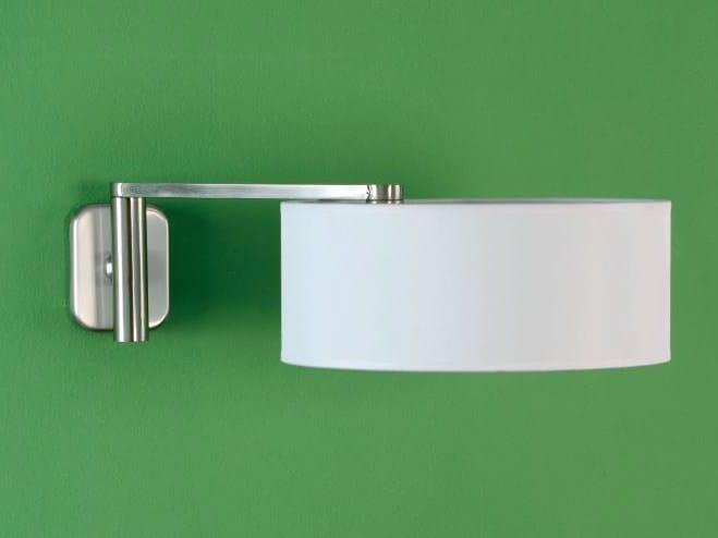 Adjustable nickel wall lamp MATRIX A by luxcambra