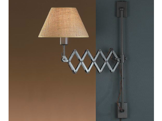 Fabric wall lamp with swing arm LONDON A by luxcambra