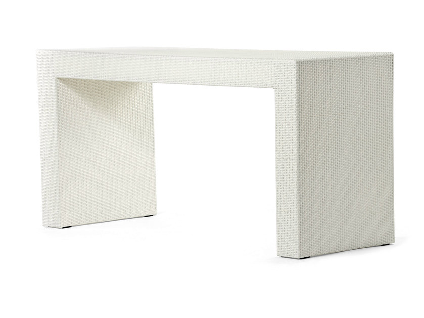 Bar table with synthetic fiber weaving CORA | High table by Varaschin