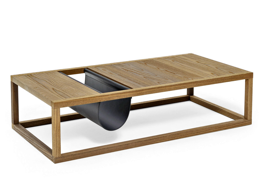 Rectangular solid wood coffee table DORSODURO | Solid wood coffee table by Varaschin