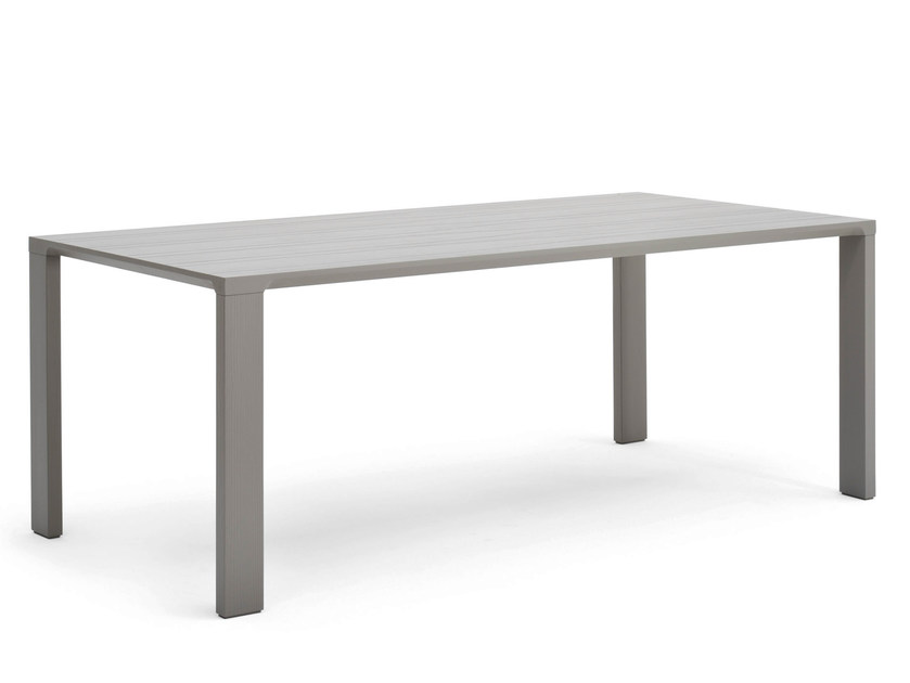 Rectangular multi-layer wood table JODAN | Table by Varaschin