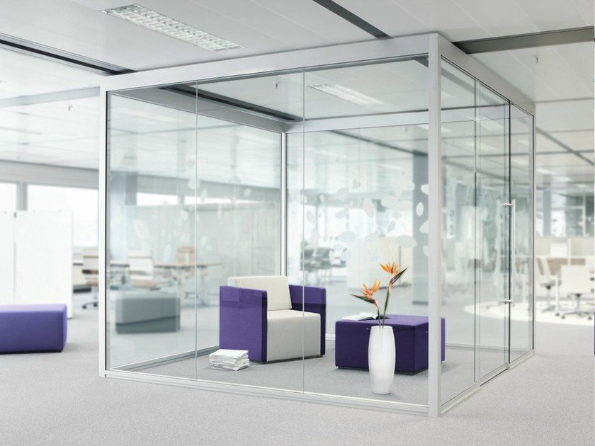 Acoustic sliding office partition THINK.TANK by König Neurath