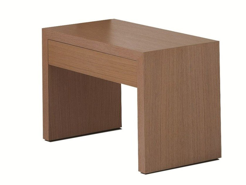 Lacquered wooden bedside table with drawers BT 60.6 by Schramm Werkstätten