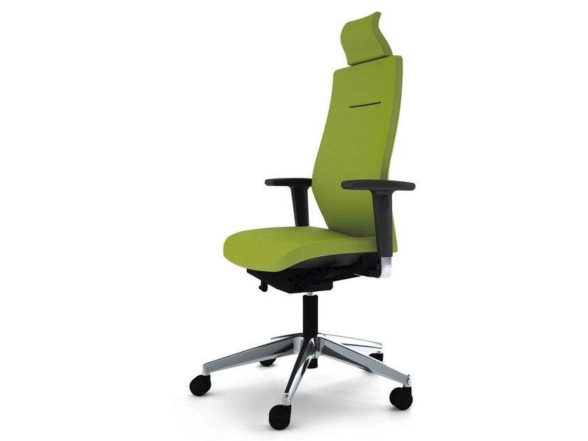 Executive chair with 5-spoke base with armrests with headrest JET II | Executive chair with headrest by König Neurath