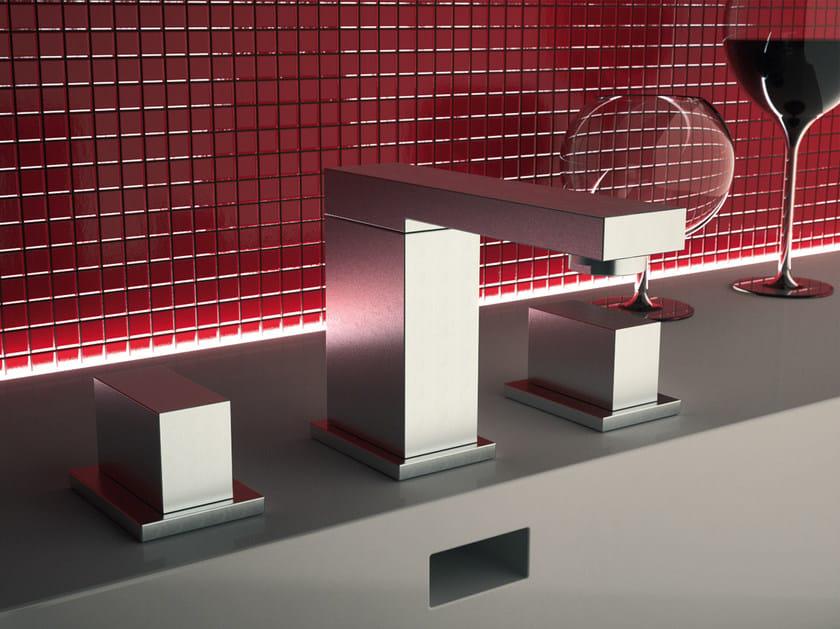 3 hole washbasin tap TWIN | 3 hole washbasin tap by Daniel Rubinetterie