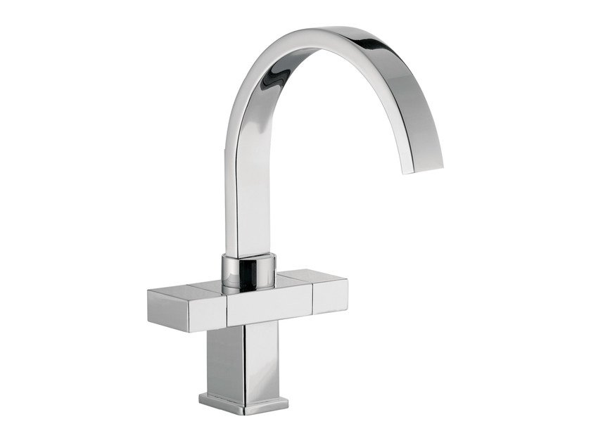Countertop 1 hole washbasin mixer with adjustable spout TWIN | Washbasin mixer with adjustable spout by Daniel Rubinetterie