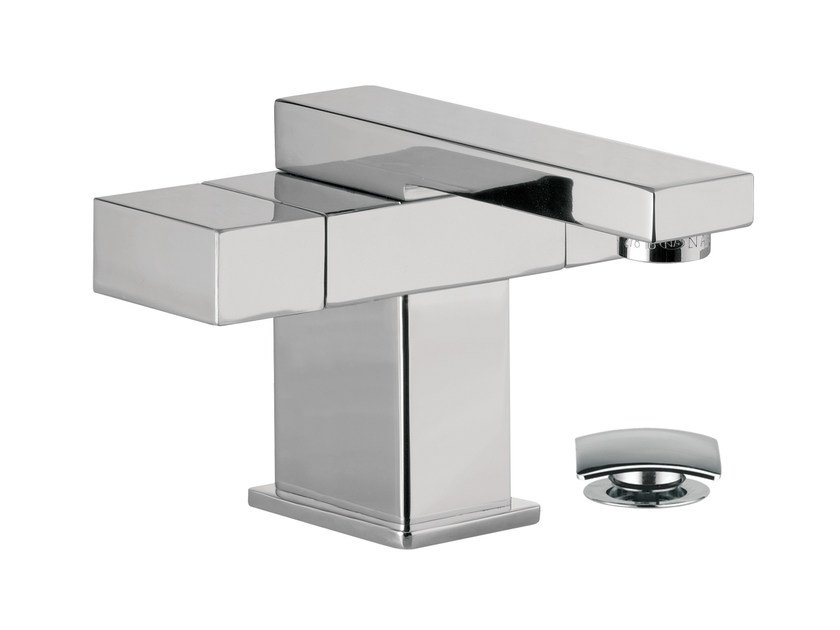 Chrome-plated countertop 1 hole washbasin mixer TWIN | Miscelatore per lavabo by Daniel Rubinetterie