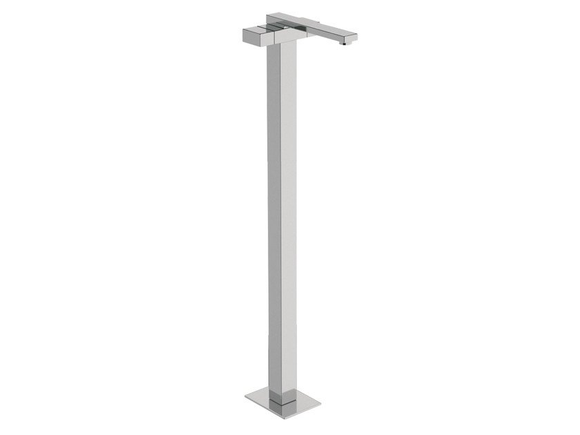 Chrome-plated floor standing washbasin mixer TWIN | Floor standing washbasin mixer by Daniel Rubinetterie