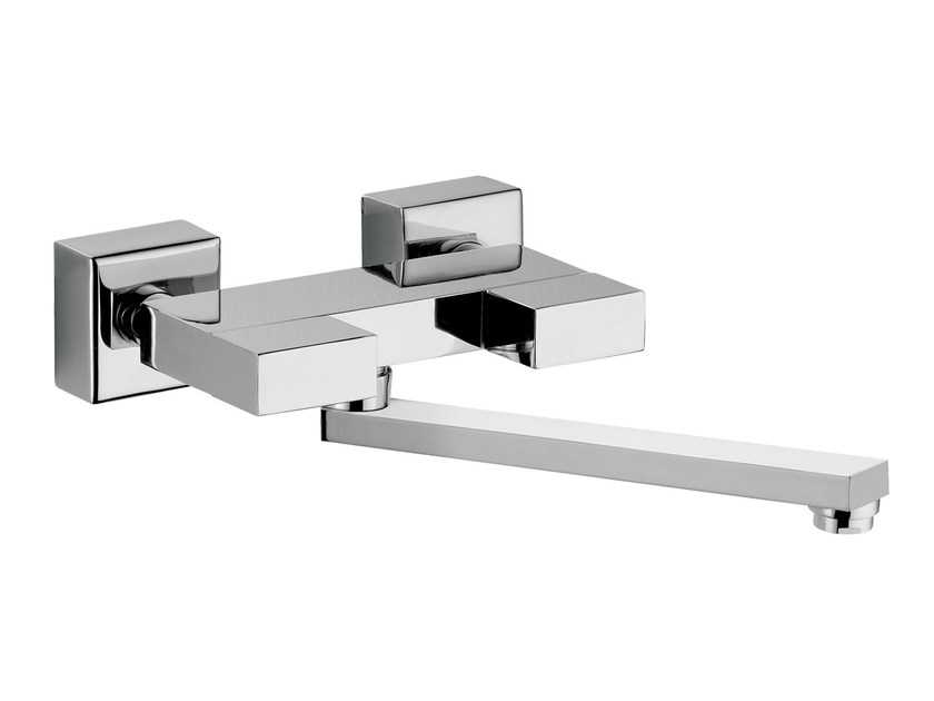 Wall-mounted kitchen mixer tap with swivel spout TWIN | Wall-mounted kitchen mixer tap by Daniel Rubinetterie