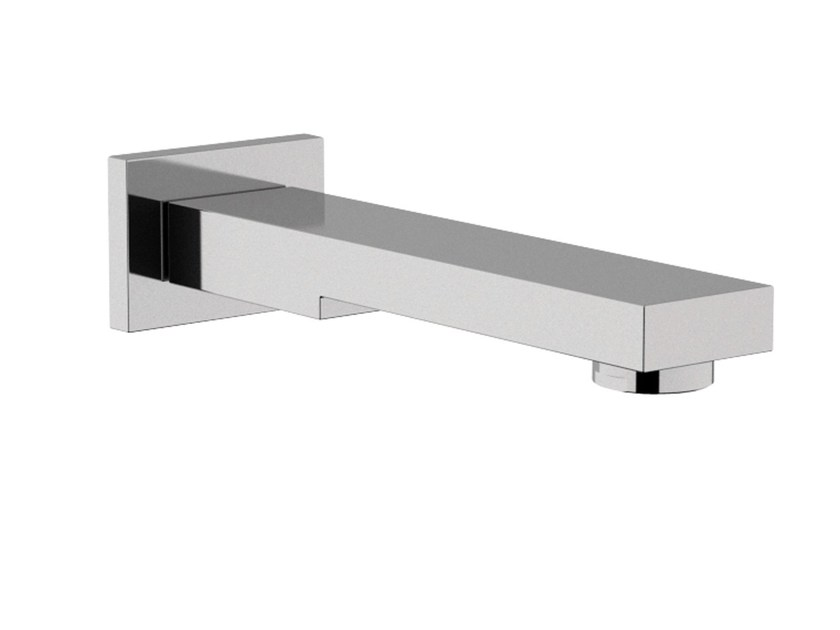 Chrome-plated wall-mounted spout TWIN | Spout by Daniel Rubinetterie