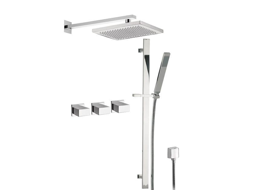 Chromed brass shower wallbar TWIN | Shower wallbar by Daniel Rubinetterie