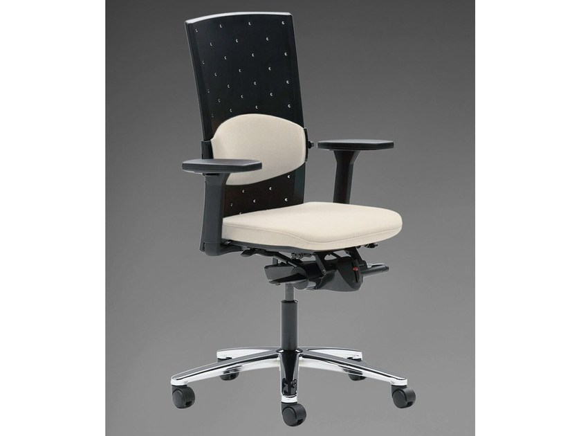 Task chair with 5-Spoke base with armrests TENSA | Task chair with 5-Spoke base by König Neurath