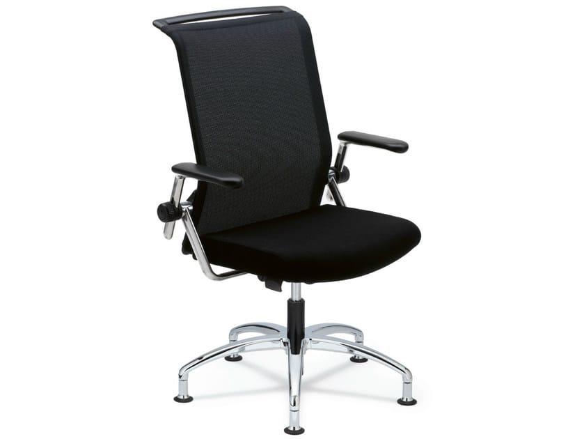 Task chair with 5-Spoke base with armrests KINETA   Task chair by König Neurath