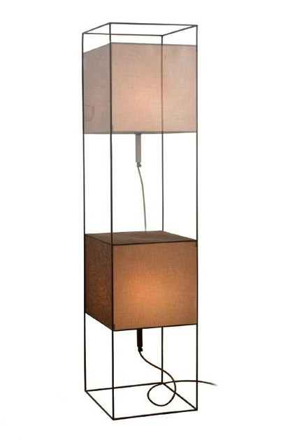 Height-adjustable fabric floor lamp BABEL P by luxcambra