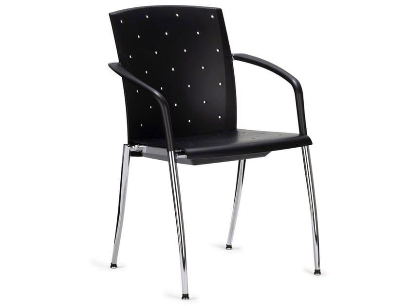 Stackable reception chair TENSA by König Neurath