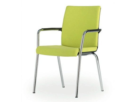 Upholstered reception chair with armrests SIGNETA | Reception chair by König Neurath