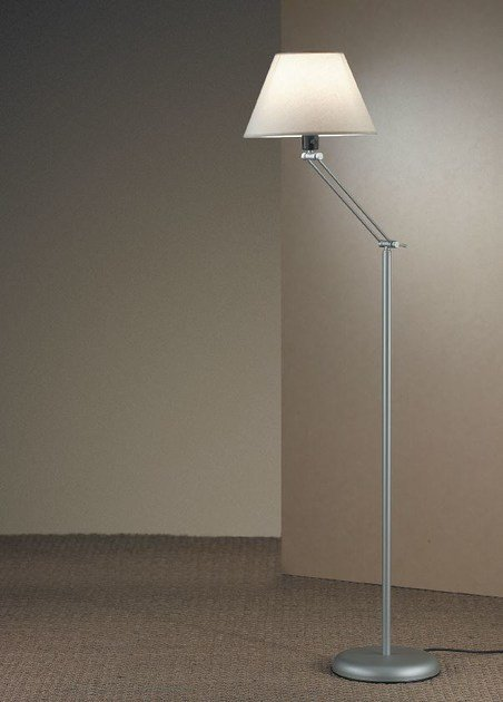Fabric floor lamp with swing arm AGRIPINA P by luxcambra