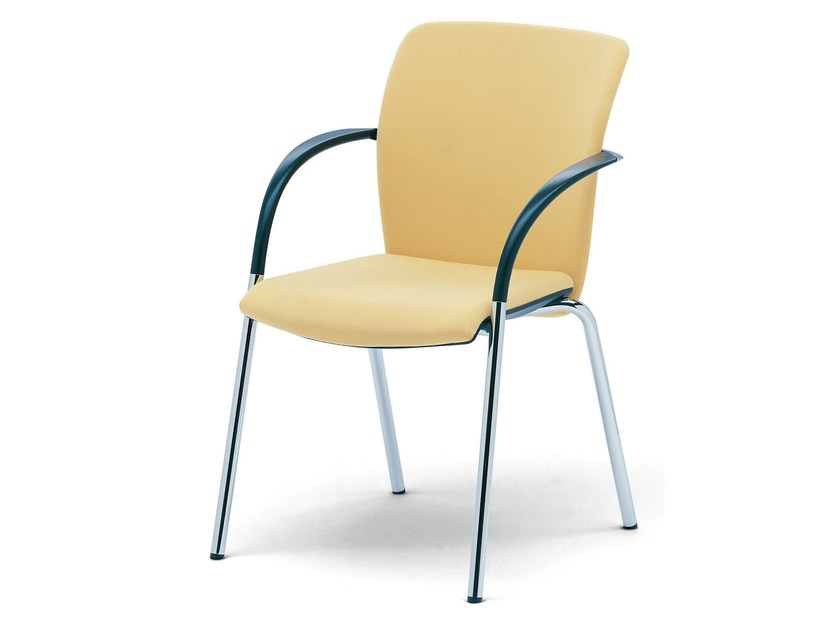 Upholstered chair with armrests OKAY by König Neurath