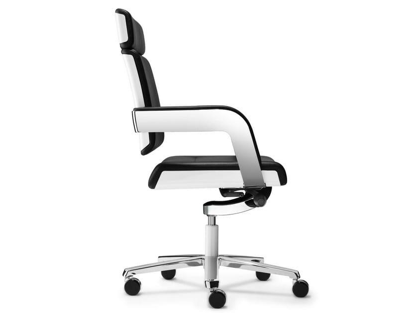 Height-adjustable executive chair with 5-spoke base CHARTA | Executive chair by König Neurath