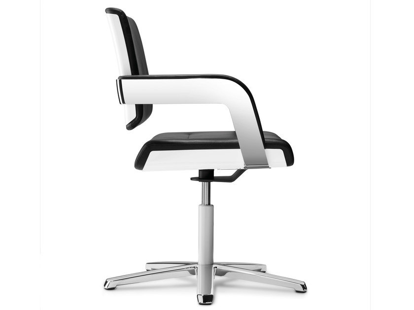 Task chair with 5-Spoke base with armrests CHARTA | Task chair by König Neurath