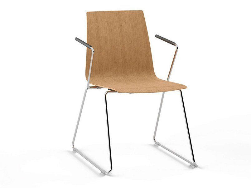 Sled base reception chair MOVE.ME | Reception chair by König Neurath